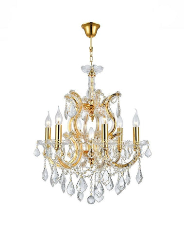Maria Theresa Crystal Chandelier Grande 7 Light - GOLD - Designer Chandelier