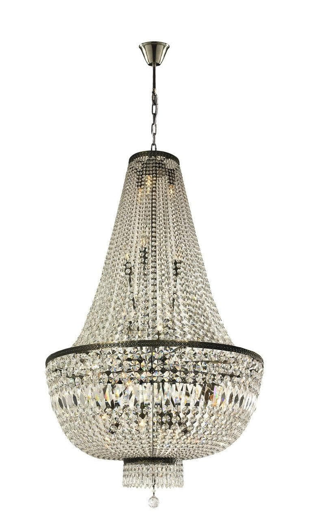 French Basket Chandelier - Antique Bronze - 80cm by 130cm - Designer Chandelier