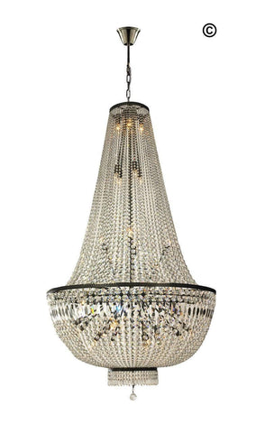 French Basket Chandelier - Antique Bronze - 100cm by 180cm