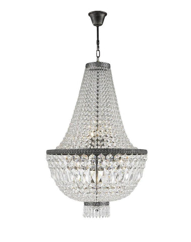 French Basket Chandelier - Antique SILVER - 8 Light - Designer Chandelier