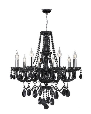 Jet Black Bohemian Chandelier - 8 ARM - Designer Chandelier