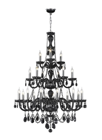 Jet Black Bohemian Chandelier - 21 ARM - Designer Chandelier