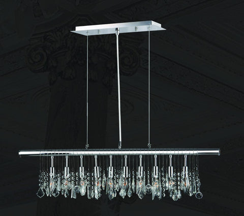 Trinity Modern Crystal Bar Light - W:90cm