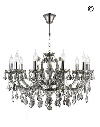 Maria Theresa Crystal Chandelier Grande 10 Light - SMOKE