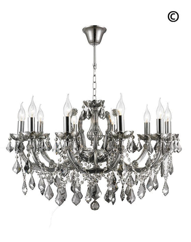 Maria Theresa Crystal Chandelier Grande 10 Light - SMOKE - Designer Chandelier