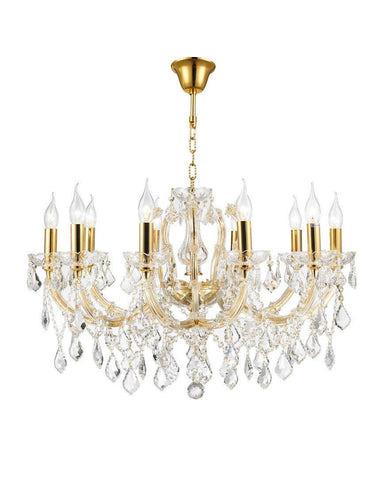 Maria Theresa Crystal Chandelier Grande 10 Light - GOLD - Designer Chandelier