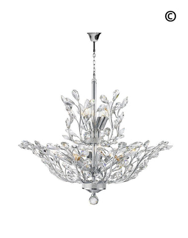 Willow Contemporary Leaf Chandelier - W:70