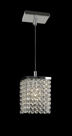 Single Crystalia Pendant Light - Clear Crystal