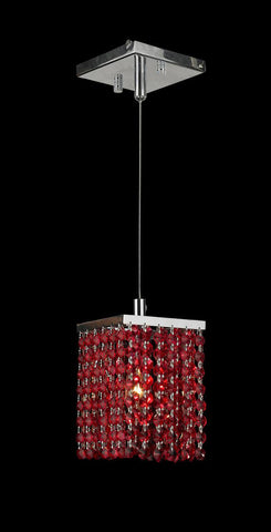 Single Crystalia Pendant Light - Ruby Crystal