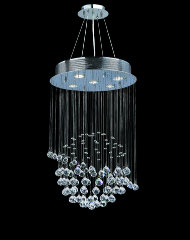 Saturn Ball LED Crystal Chandelier - Width:40 Height:66cm