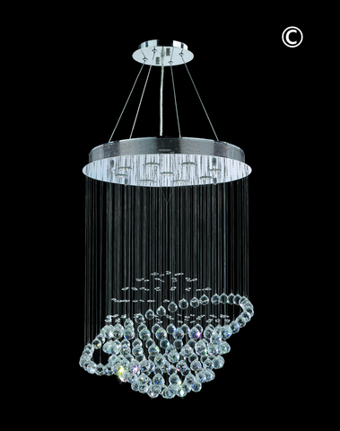 Saturn Ball LED Crystal Chandelier - Width:66 Height:90cm