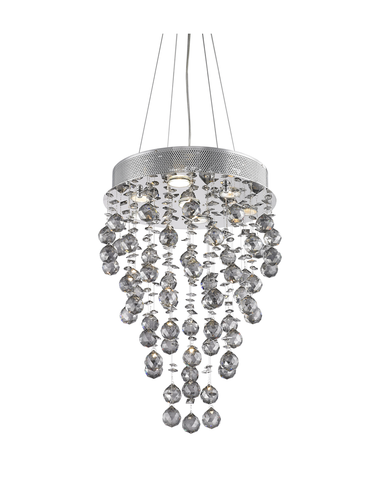 Round Cluster LED Crystal Chandelier - SMOKE - Width:40cm Height:60cm