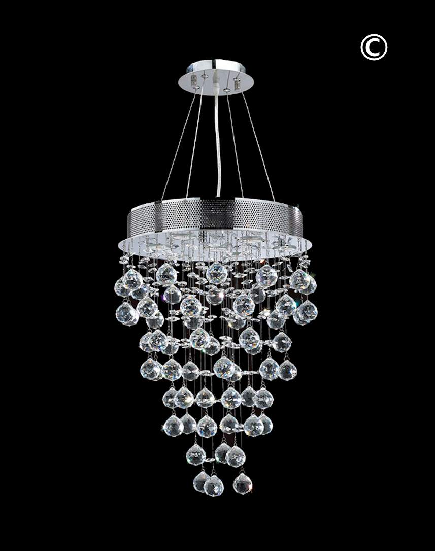 Round cluster led crystal chandelier width40cm height60cm