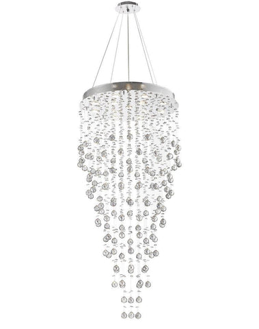 Round Cluster LED Crystal Chandelier -SMOKE - Width:70cm Height:150cm