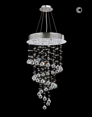 Contemporary Spiral LED Chandelier - W:46cm H:90cm - Designer Chandelier