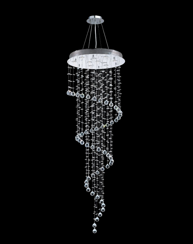 Contemporary Spiral LED Chandelier - W:60cm H:180cm - Designer Chandelier