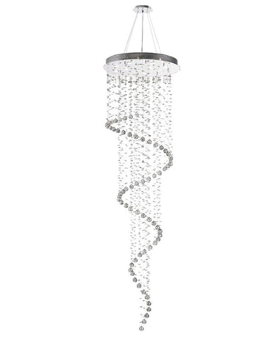 Contemporary Spiral LED Chandelier - SMOKE - W:70cm H:240cm - Designer Chandelier