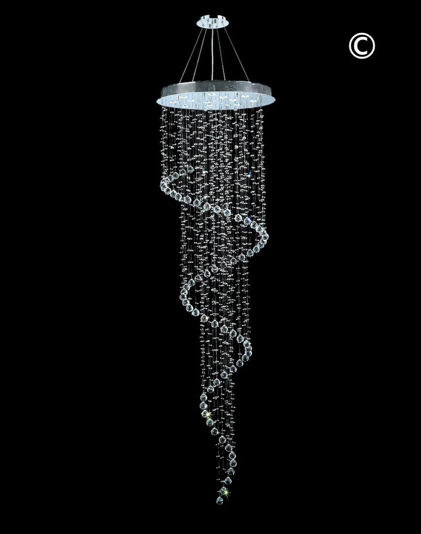 crystal in string new spiral from free lights item shipping chandeliers chandelier led on modern lighting foyer luxury