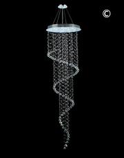 Contemporary Spiral LED Chandelier - W:70cm H:240cm - Designer Chandelier