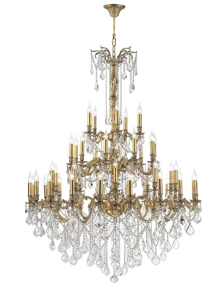 AMERICANA 45 Light Crystal Chandelier - Brass Finish - Designer Chandelier