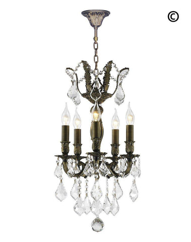 AMERICANA 5 Light Chandelier - Antique Bronze Style