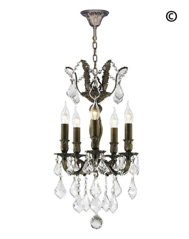 AMERICANA 5 Light Chandelier - Antique Bronze Style - Designer Chandelier  AMERICANA 5 Light Chandelier - Antique Bronze Style - Designer Chandelier