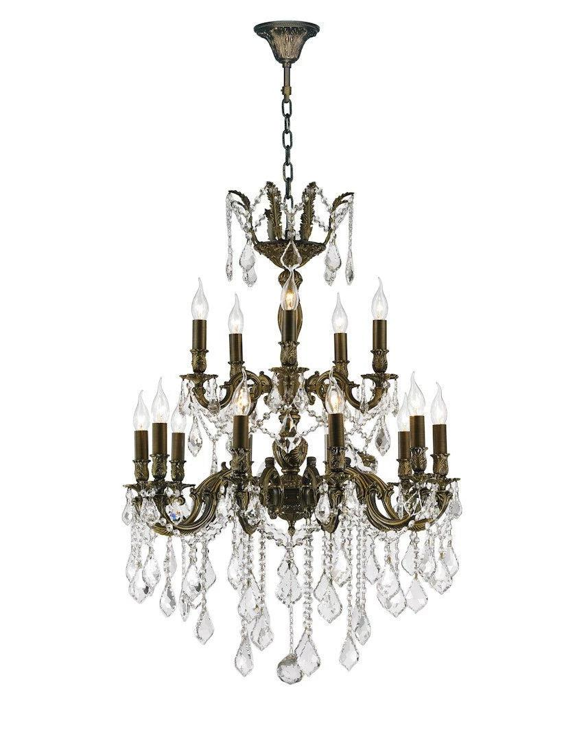 Americana 15 light crystal chandelier antique bronze style americana 15 light crystal chandelier antique bronze style designer chandelier australia arubaitofo Image collections