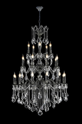 AMERICANA 25 Light Crystal Chandelier - Antique SILVER-Designer Chandelier Australia