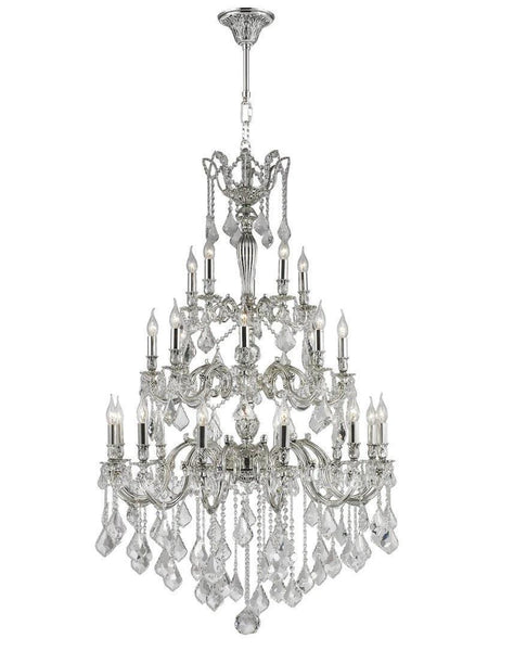 AMERICANA 25 Light Crystal Chandelier - Silver Plated
