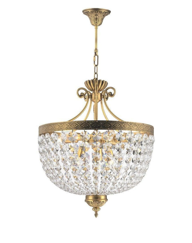 Florence Basket Chandelier -  Solid Brass Finish- W:50cm H:65cm - Designer Chandelier