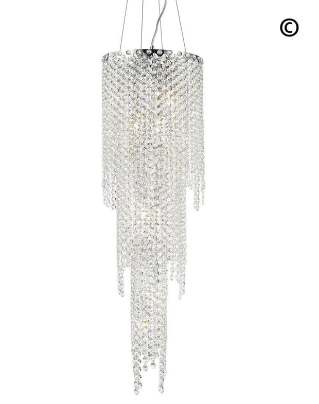 Glacier Pendant 3 Tier Chandelier - Height:100cm - Designer Chandelier