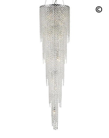 Glacier Pendant 5 Tier Chandelier - Height:170cm - Designer Chandelier