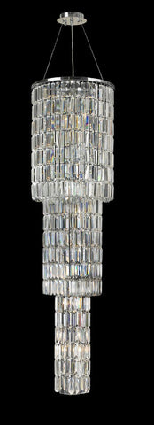 Modena Entrance Crystal Pendant Light - 3 Tier Round - W:40cm H:160cm-Designer Chandelier Australia