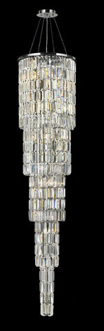 Modena Entrance Crystal Pendant Light - 5 Tier Round - W:40 H:170