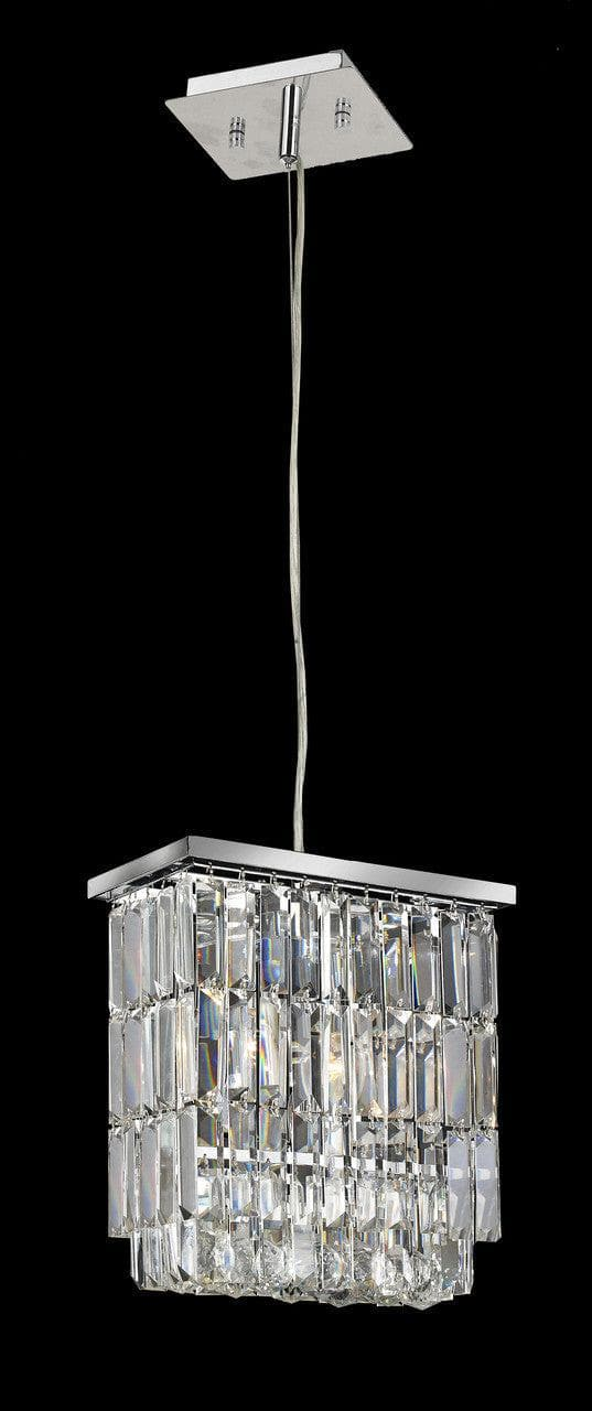 Modena Crystal Pendant - Rectangle Multi Tier W: 25cm - Designer Chandelier