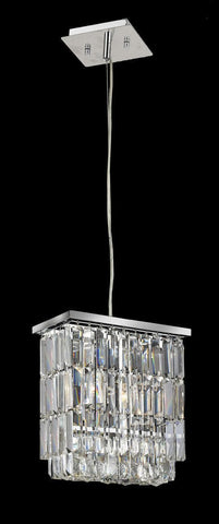 Modena Crystal Pendant - Rectangle Multi Tier W: 25cm*15cm H:30cm