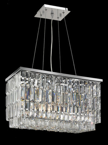 Modena Crystal Pendant - Rectangle Multi Tier W: 50cm*30cm H:30cm