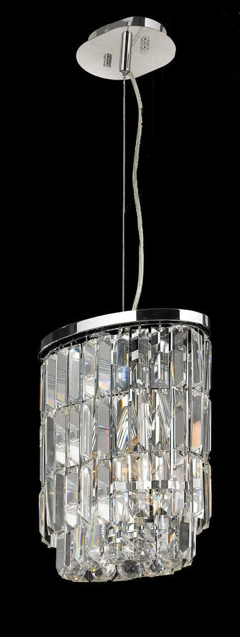 Modena Crystal Pendant - Small Oval Multi Tier W: 25cm - Designer Chandelier