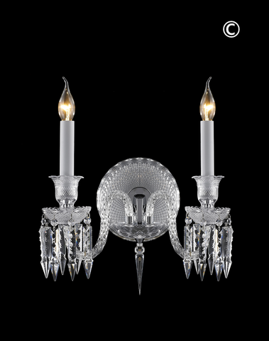 Buckingham Wall Sconce - Double Arm (As seen on The Bachelor) - Designer Chandelier