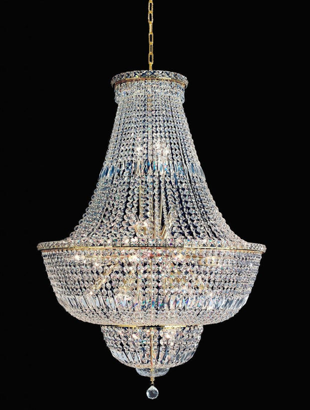Empress Crystal Basket Chandelier - GOLD - 28 Lights - Designer Chandelier