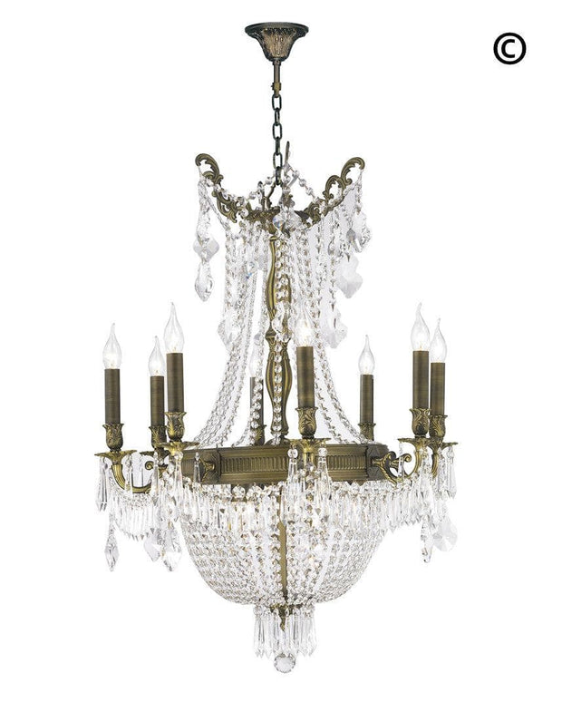 Regency Basket Chandelier -  Antique Bronze Style - W:66cm H:94cm - Designer Chandelier