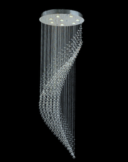 Contemporary Wave LED Chandelier - W:60cm H:190cm - Designer Chandelier