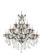 Maria Theresa Crystal Chandelier Grande 28 Light - SMOKE - Designer Chandelier