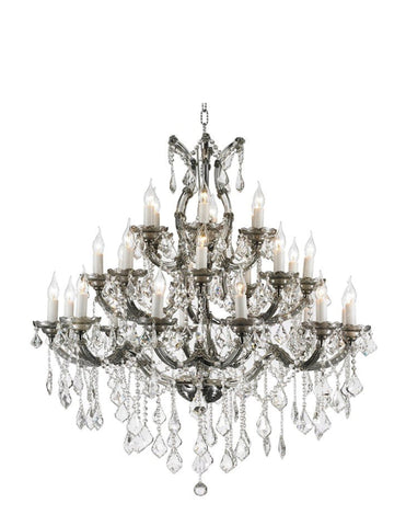 Maria Theresa Crystal Chandelier Grande 28 Light - SMOKE - Designer Chandelier  Maria Theresa Crystal Chandelier Grande 28 Light - SMOKE - Designer Chandelier