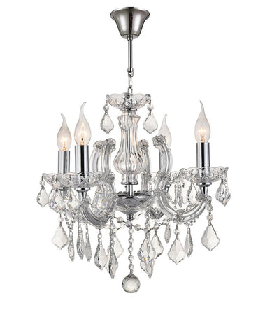 Maria Theresa 4 Light Crystal Chandelier - CHROME - Designer Chandelier  Maria Theresa 4 Light Crystal Chandelier - CHROME - Designer Chandelier