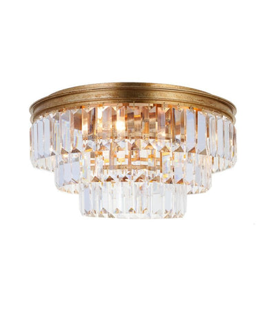 Jordan Collection - Flush Mount Chandelier - 40cm - Antique Gold