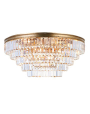 Jordan Collection - Flush Mount Chandelier - 70cm - Antique Gold