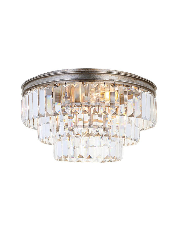 Jordan Collection - Flush Mount Chandelier - 40cm - Champagne