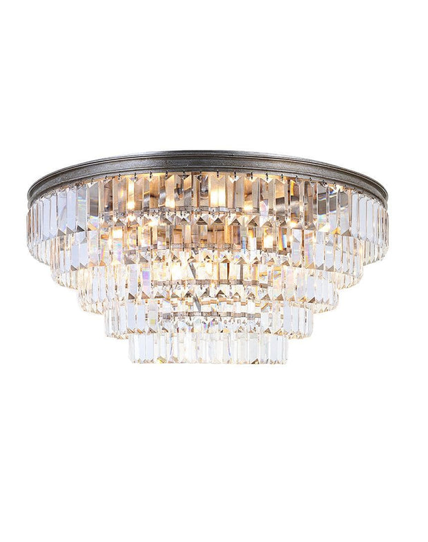 Jordan Collection - Flush Mount Chandelier - 70cm - Champagne