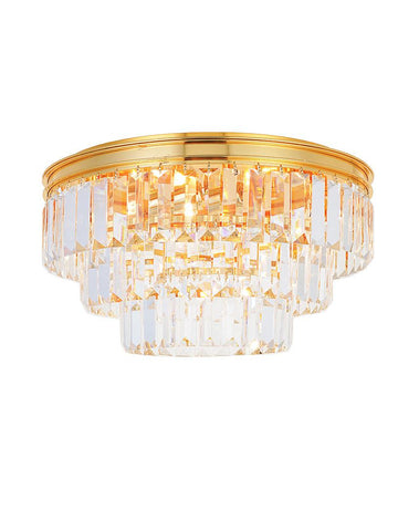 Jordan Collection - Flush Mount Chandelier - 40cm - Gold Plated